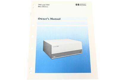 Hewlett Packard hp 07940-90901 7941 and 7945 Disc Drives Owner's Manual