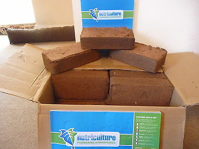 Coir Brick, Coco, Canna, Soil,media,10 X 10 Litre, Hydroponics, Grow Room, L@@k!