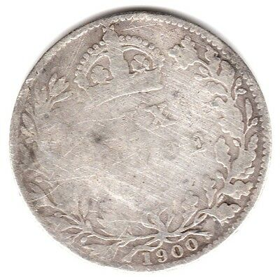 1900 6d Silver SIXPENCE six pence Queen Victoria Old Head (a)