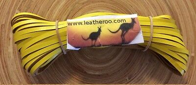 "Kangaroo Lace YELLOW Kangaroo Leather Lacing (3.0mm 1/8"" Width) 20 meter hank"