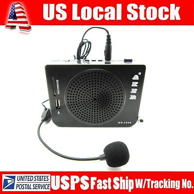 Aker MR2800 Voice Amplifier Booster MP3 Microphone 16W-Output For Teacher Coach