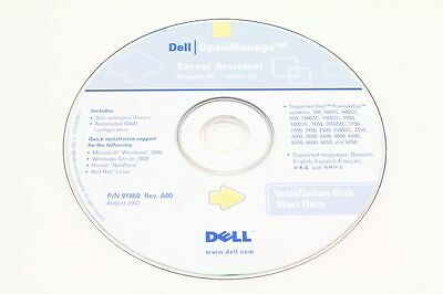 Dell P/N 9Y860 OpenManage Server Assistant CD Version 7.5 PowerEdge 350 650 6400