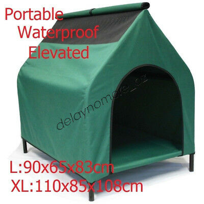 Waterproof Pet House Portable Flea Mite Resistant Dog Bed Puppy Kennel Elevated