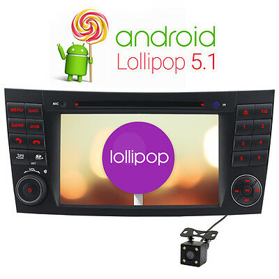 Free camera + Android 5.1 DVD GPS Sat nav for Mercedes Benz E G CLS Class W211