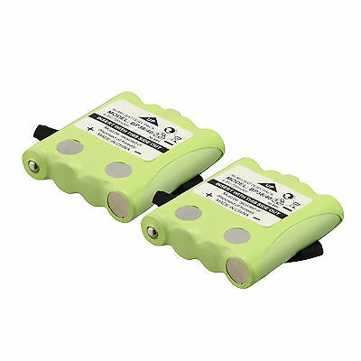 2×Green Replacement Battery For Uniden Two-way radio BP-38 BP-40 GMR FRS BT-537