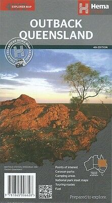 Hema Outback Queensland Map *FREE SHIPPING - NEW*