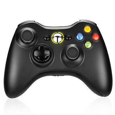 Wireless Game Controller Gamepad for Microsoft XBOX 360 & PC WIN 7 8 10 Black