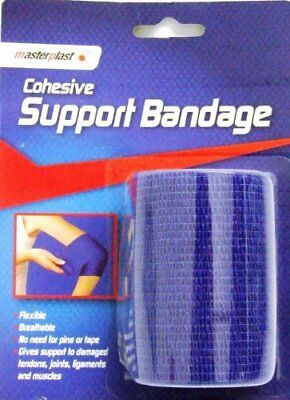 7Cm X 4M Blue Flexible Cohesive Support Bandage, First Aid