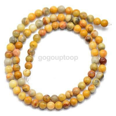 4mm Natural Agate Round Gemstone Loose Spacer Beads Strand Jewelry Bracelet