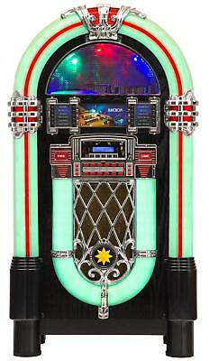 Vintage Xxl Jukebox Stereo Hifi System Mp3 Cd Player Usb Sd Fm Radio Bluetooth