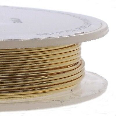 Craft/Jewellery Wire Non-Tarnish - Gold Colour 0.4mm 0.6mm 0.8mm 1mm