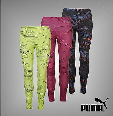 New Ladies Genuine Puma DryCell Sports Tight Elevated Leggings Pants Size 8-16