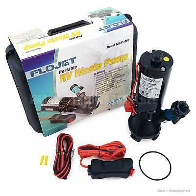Flojet 18555000A Portable RV Waste Water Pump 12V DC 18555 000 Carrying Case