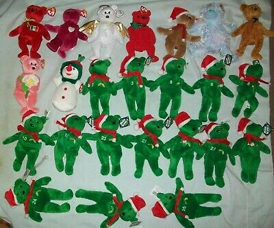 Lot of 9 Beanie Babies, Some w/Errors, All w/Tags, Osito, Valentina, Twizzles,