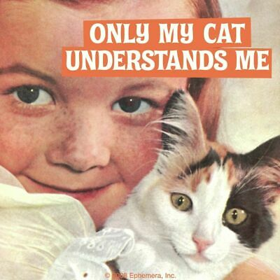 New Only My Cat Understands Me Coaster Retro Drinks Mat Novelty Funny Gift Kitty