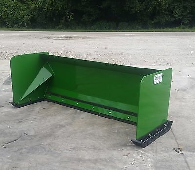 7' John Deere snow pusher box FREE SHIPPING skid steer loader tractor