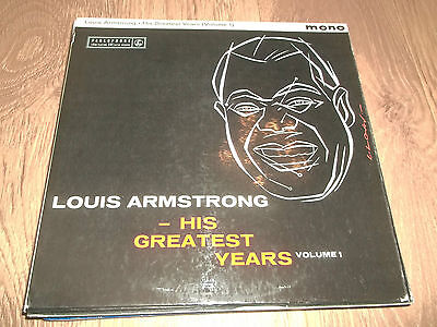 "Louis Armstrong "" His Greatest Years ( Volume 1 ) "" Jazz Vinyl Lp Ex/ex Pmc 1140"