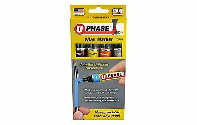 U-Mark U-Phase 10718P3A Brown Yellow Gray Orange Wire Marker Pack of 4 19913