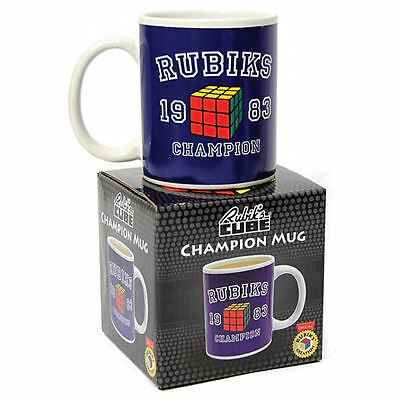 Rubiks Cube 1983 Champion Boxed Mug Retro Ceramic Coffee Tea Cup Varsity Gift