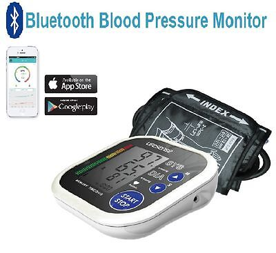 Digital Bluetooth Electronic Blood Pressure Monitor Upper Arm Post Free iPhone