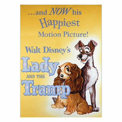 Lady And The Tramp Disney Classic Film Poster Fridge Magnet Gift Kitchen Dogs