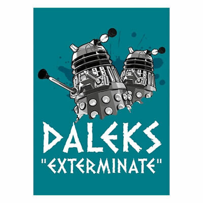 Doctor Who Daleks Exterminate Fridge Magnet Retro Dr Bbc Capaldi Baker Kitchen