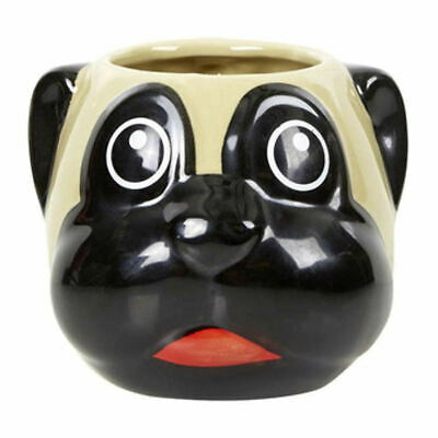 Pug 3D Shaped Mug Ceramic Coffee Tea Cup Boxed Dog Puppy Novelty Gift Head