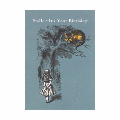 Cheshire Cat Smile Its Your Birthday Greeting Card Alice In Wonderland Carroll