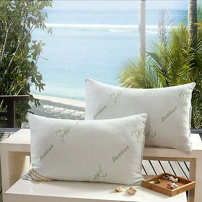 The Original Best Bamboo Hypoallergenic Soft microfiber Pillow with Carry Bag