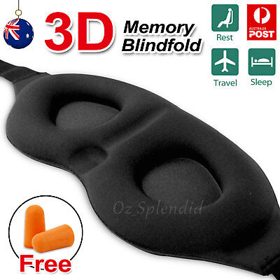 Travel Sleep Eye Mask 3D Memory Foam Padded Shade Cover Light Sleeping Blindfold