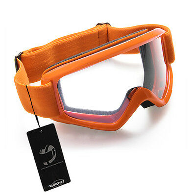 Orange Lunettes Moto Vélo Motocross Enduro Goggle Glasses Ski