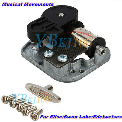 Hot Wind Up Musical Movements Parts DIY Music Box Fur Elise/ Swan Lake/Edelweiss