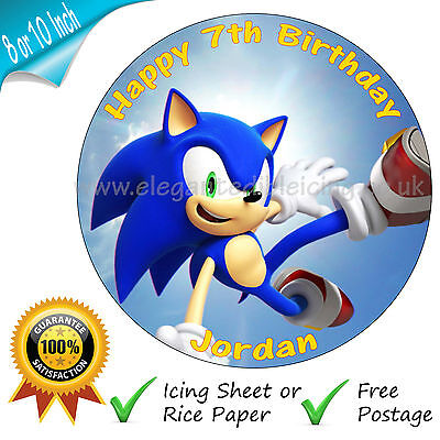 Edible Sonic Cake Topper Figure The Hedgehog Decoration