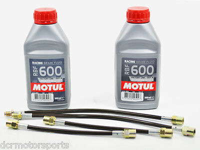 Durites flexibles Goodridge Peugeot 206 S16/RC/HDi + 2 Motul RBF 600
