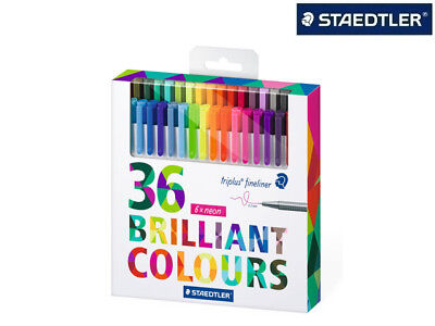 36 X Staedtler Fineliner Triplus 334 Brilliant Colours Kreative Auszeit Top!!!!
