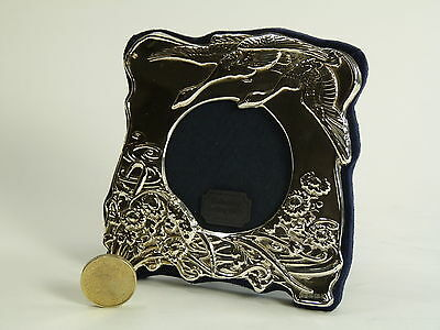 "Vintage Sterling Silver - Photo / Picture FRAME - 2 1/2"" Round - SF71"