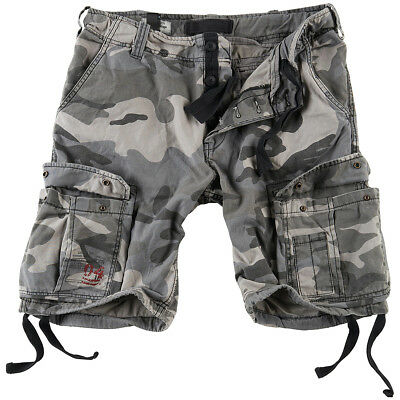Surplus Airborne Vintage Cargos Mens Cotton Army Combat Shorts Washed Night  Camo 6f8efbb7eebd1