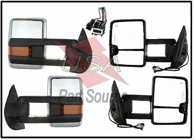 07-13 Silverado Towing Power Heated Chrome Mirrors LED Signal & Clearance Lamps