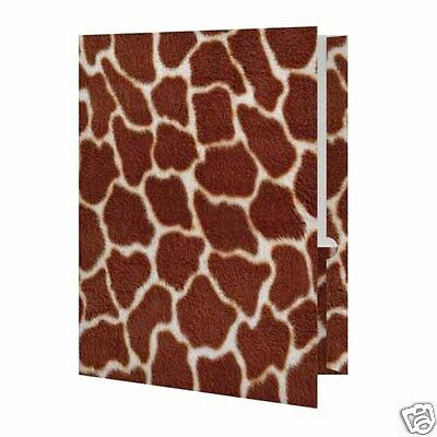 Giraffe Print Presentation File Folder