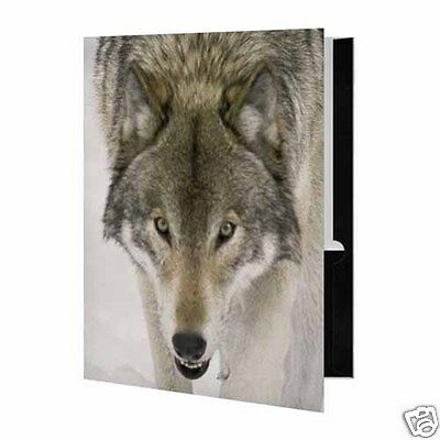 Wolf Face Presentation File Folder Wolves Animals Print