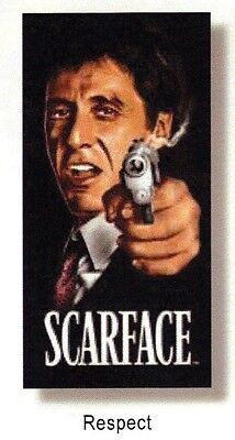 "SCARFACE 1983 MOVIE Tony Montana AL PACINO Respect BEACH TOWEL 30"" x 60"" New"