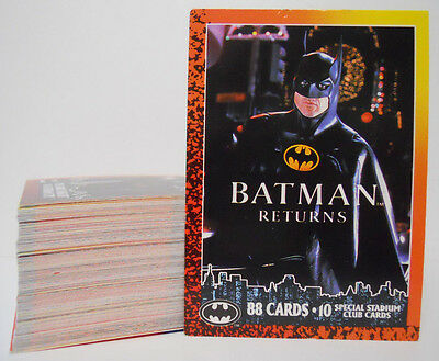 VINTAGE! COMPLETE SET! 1992 Topps Batman Returns #1-88 Base Card Set