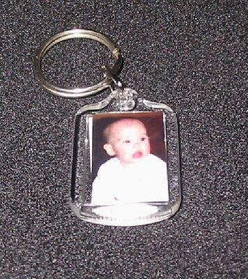 Tiny Keyrings photo insert keychain double sided (100)