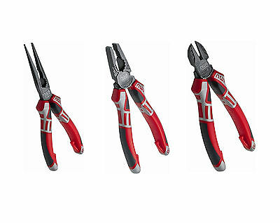 NWS Heavy Duty 3 Piece Classic All Round Plier Set- Made In Germany Since 1973