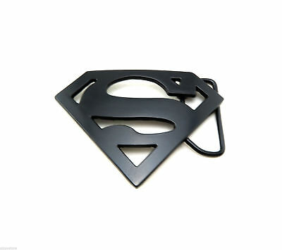 Black Superman Logo Novelty Metal Belt Buckle
