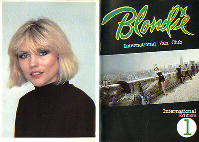 Blondie 1979 Official Fan Club Newsletter #1 International Edition Debbie Harry