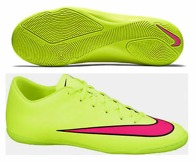 NIKE MERCURIAL VICTORY V IC JUNIOR YOUTH INDOOR SOCCER FUTSAL SHOES Volt/Black/H
