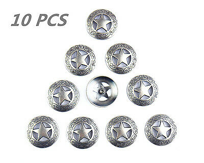 Magic Show 10pcs Western Texas Star Saddle Conchos  Leathercraft Accessories