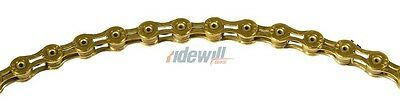 KMC Bicycle chain 10 speed, X10SL serie super light gold