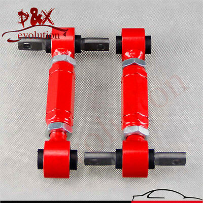 Rear Adjustable Camber Arms Kit for ADJ.C/Arm Honda CIVIC 92-00 Integra EG Red